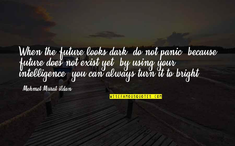 Your In My Future Quotes By Mehmet Murat Ildan: When the future looks dark, do not panic,