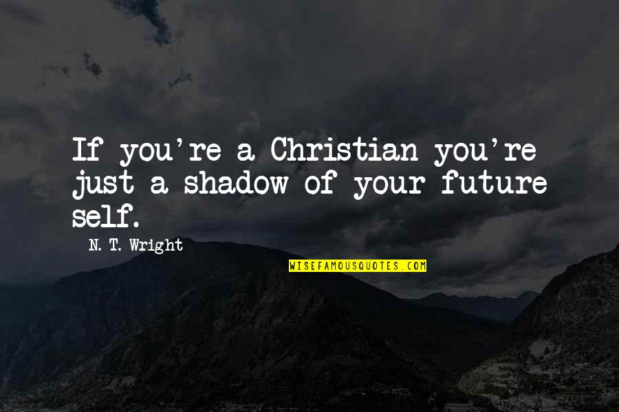 Your In My Future Quotes By N. T. Wright: If you're a Christian you're just a shadow