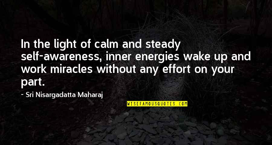 Your Inner Light Quotes By Sri Nisargadatta Maharaj: In the light of calm and steady self-awareness,