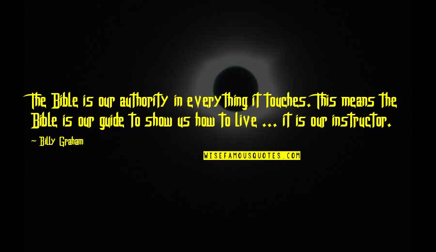 Your Instructor Quotes By Billy Graham: The Bible is our authority in everything it