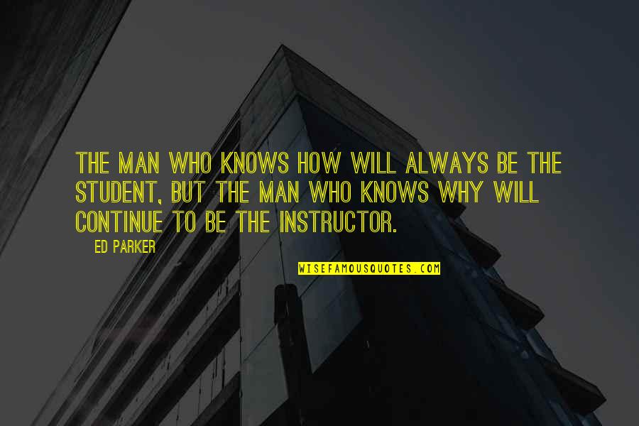 Your Instructor Quotes By Ed Parker: The man who knows how will always be