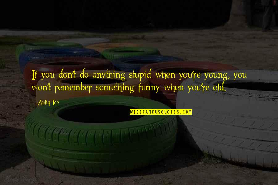 Your Life Being Amazing Quotes By Auliq Ice: If you don't do anything stupid when you're