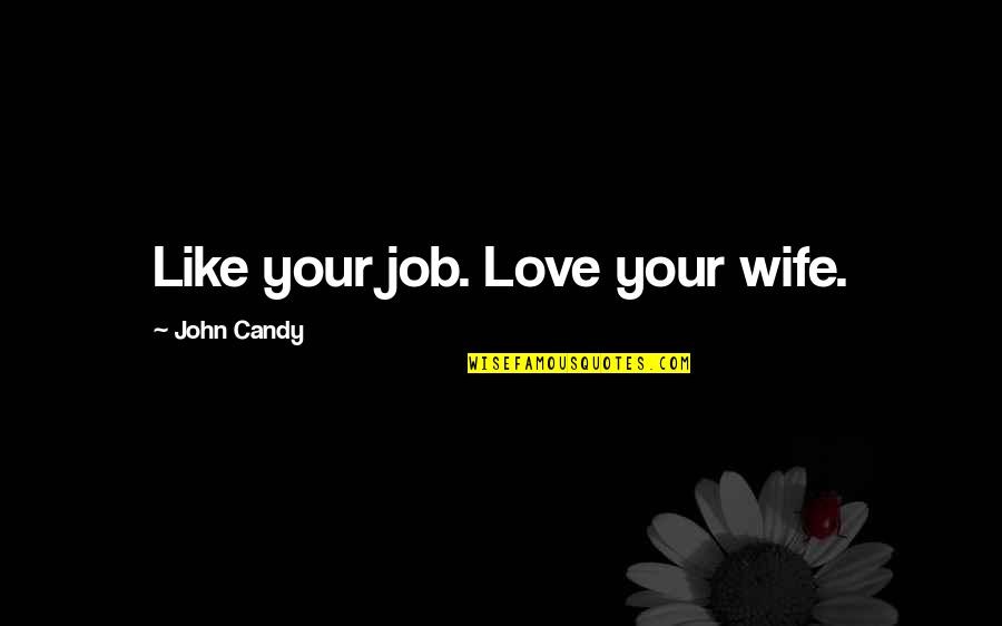 Your Love Is Like Candy Quotes By John Candy: Like your job. Love your wife.