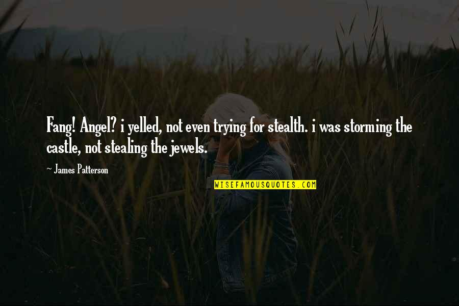 Your My Angel Now Quotes By James Patterson: Fang! Angel? i yelled, not even trying for