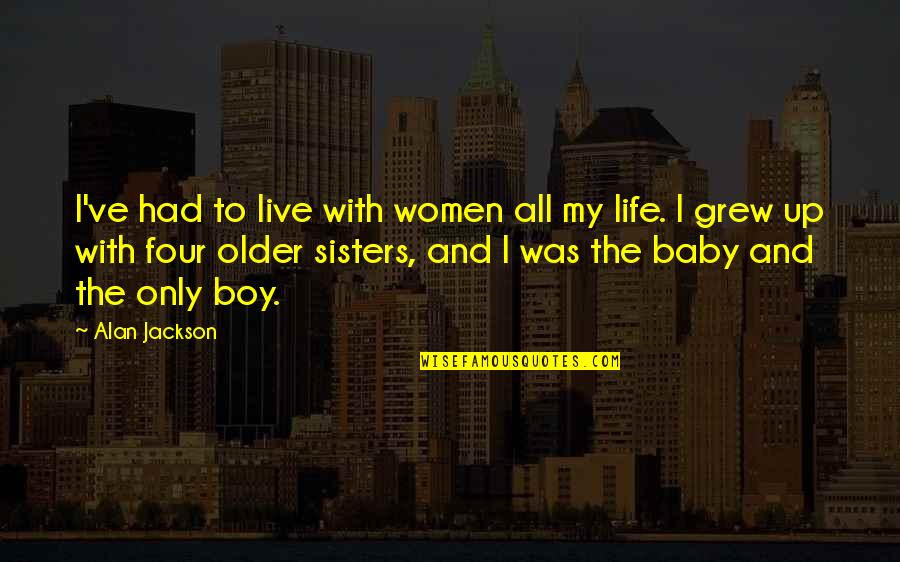Your My Baby Boy Quotes By Alan Jackson: I've had to live with women all my