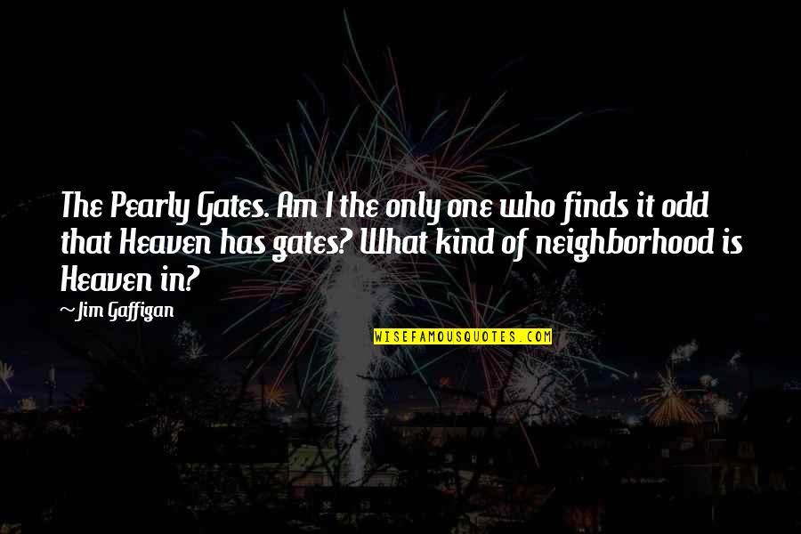 Your Neighborhood Quotes By Jim Gaffigan: The Pearly Gates. Am I the only one