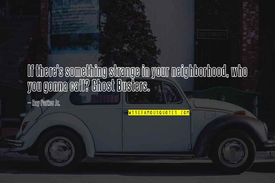 Your Neighborhood Quotes By Ray Parker Jr.: If there's something strange in your neighborhood, who