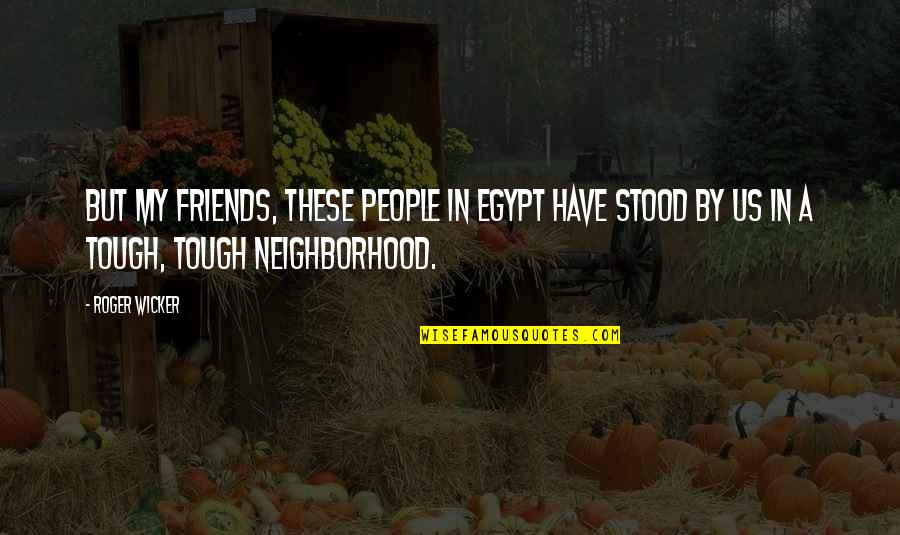 Your Neighborhood Quotes By Roger Wicker: But my friends, these people in Egypt have