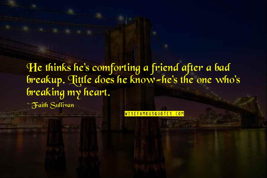 Your New Friend Quotes By Faith Sullivan: He thinks he's comforting a friend after a