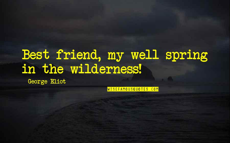 Your New Friend Quotes By George Eliot: Best friend, my well-spring in the wilderness!