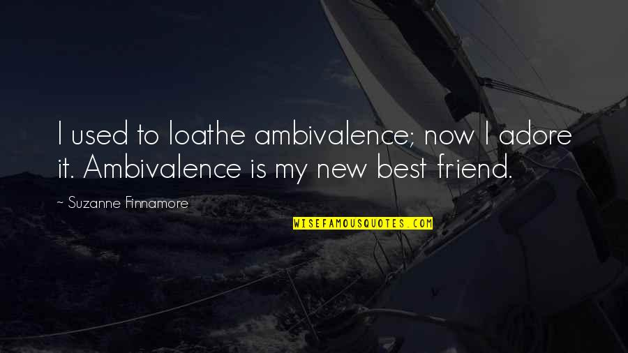Your New Friend Quotes By Suzanne Finnamore: I used to loathe ambivalence; now I adore