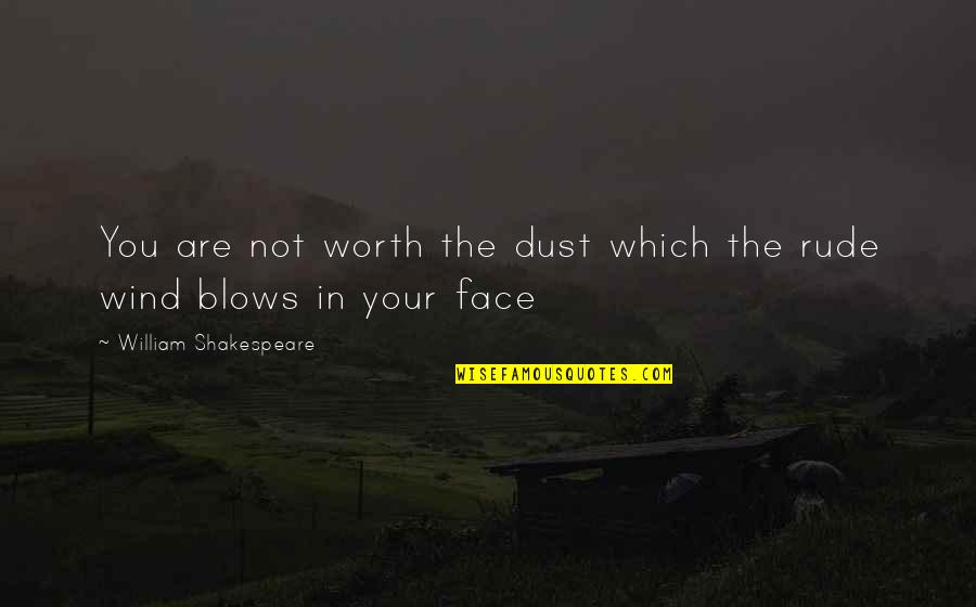 Your Not Worth The Quotes By William Shakespeare: You are not worth the dust which the
