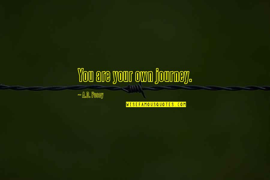 Your Own Journey Quotes By A.D. Posey: You are your own journey.