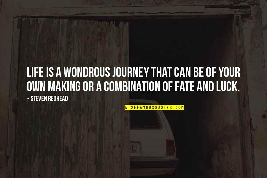 Your Own Journey Quotes By Steven Redhead: Life is a wondrous journey that can be