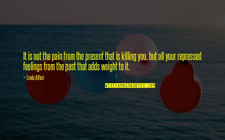 Your Pain Quotes By Linda Alfiori: It is not the pain from the present