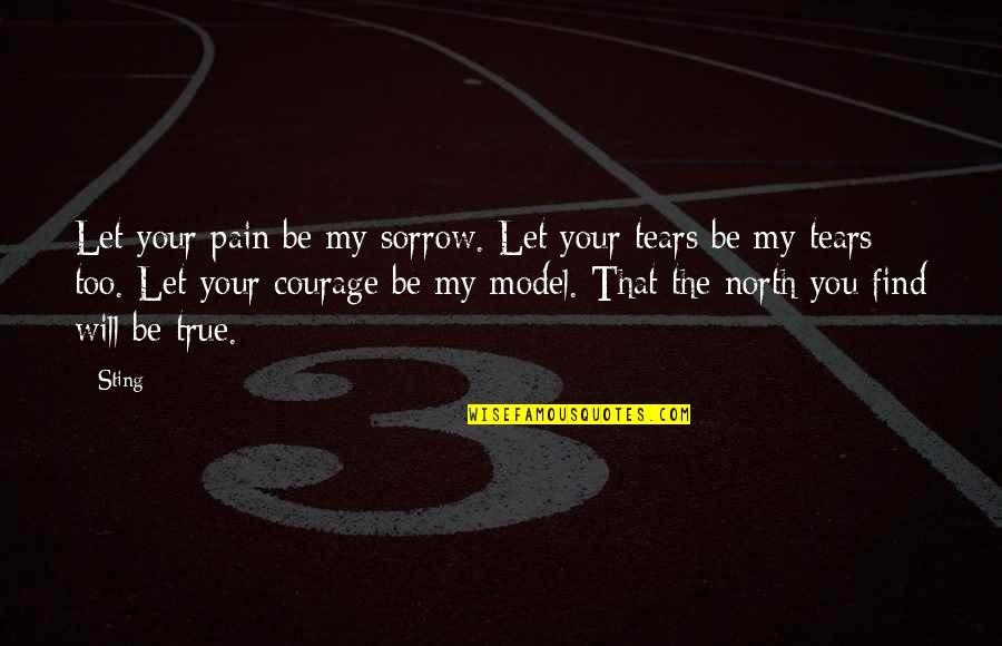 Your Pain Quotes By Sting: Let your pain be my sorrow. Let your