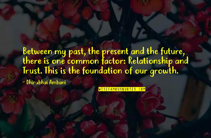 Your Past Relationship Quotes By Dhirubhai Ambani: Between my past, the present and the future,