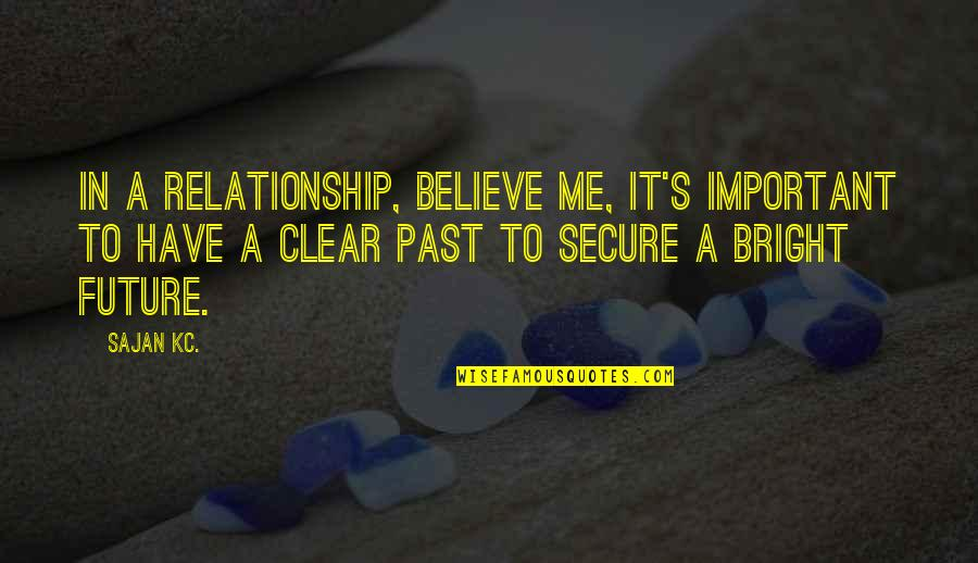 Your Past Relationship Quotes By Sajan Kc.: In a relationship, believe me, it's important to