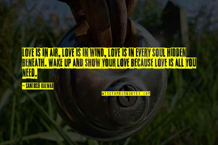 Your Soul Quotes By Santosh Kalwar: Love is in air, love is in wind,