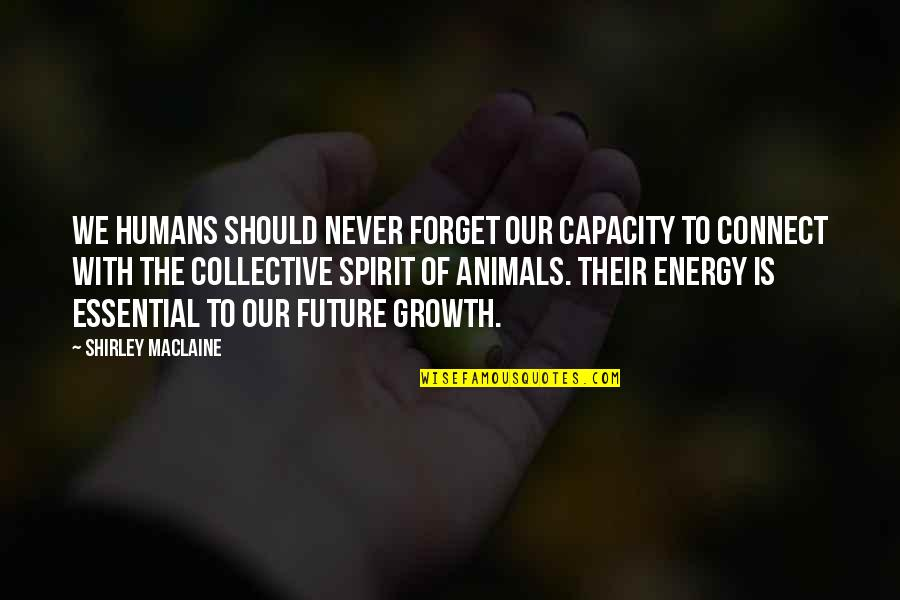 Your Spirit Animal Quotes By Shirley Maclaine: We humans should never forget our capacity to