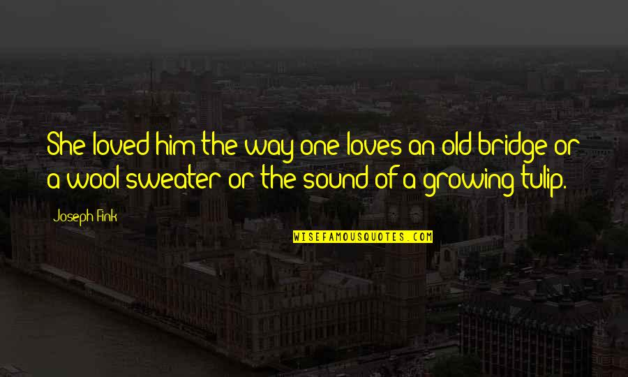 Your Sweater Quotes By Joseph Fink: She loved him the way one loves an