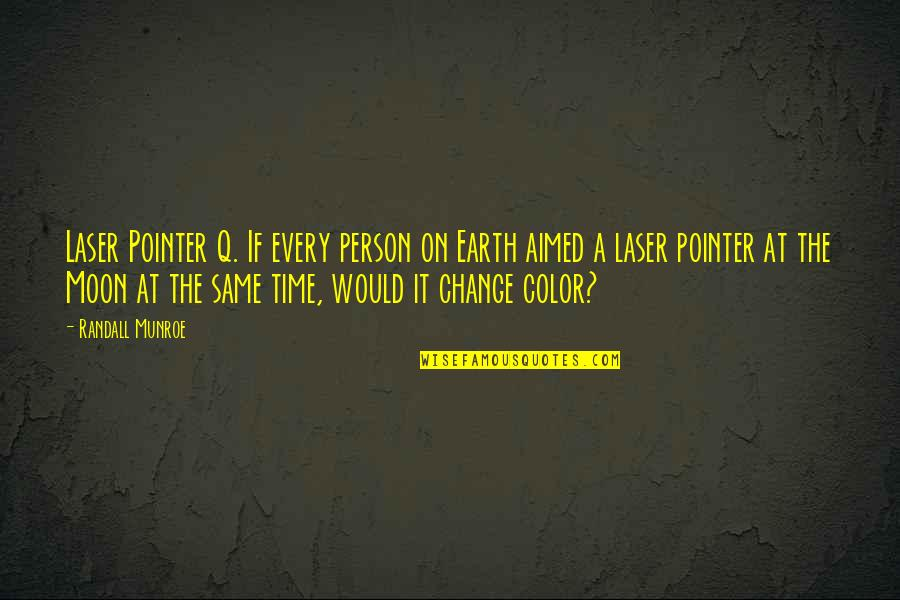 Your Time On Earth Quotes By Randall Munroe: Laser Pointer Q. If every person on Earth