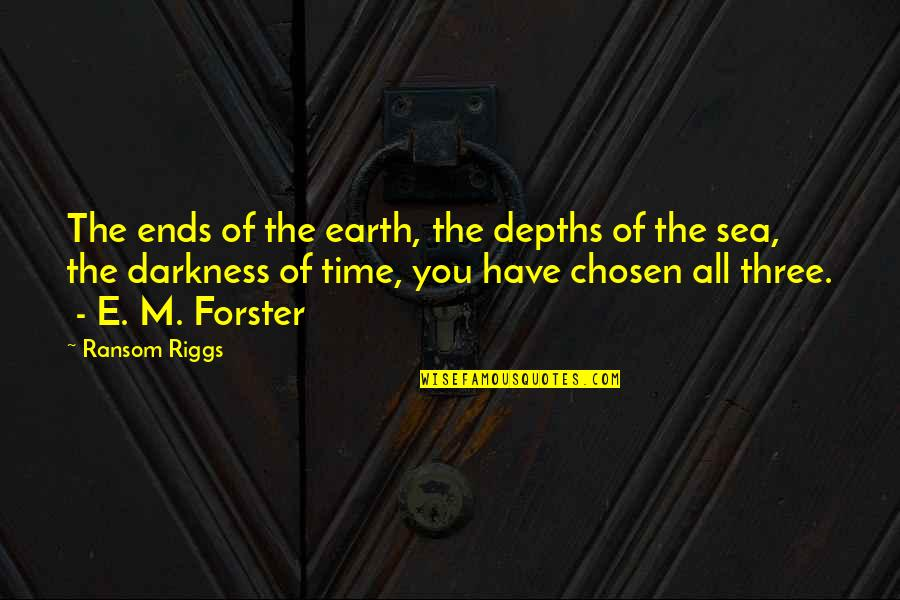 Your Time On Earth Quotes By Ransom Riggs: The ends of the earth, the depths of