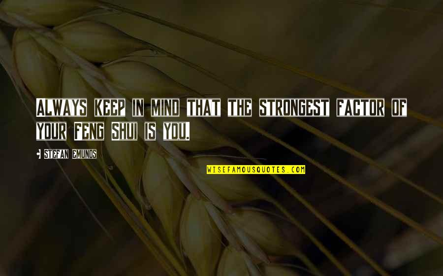 Your Vibration Quotes By Stefan Emunds: Always keep in mind that the strongest factor