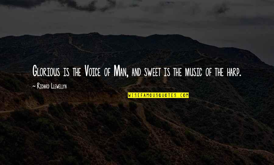 Your Voice So Sweet Quotes By Richard Llewellyn: Glorious is the Voice of Man, and sweet