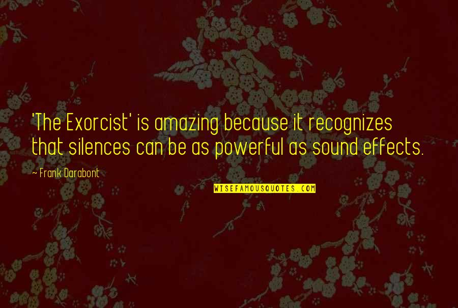 You're Amazing Because Quotes By Frank Darabont: 'The Exorcist' is amazing because it recognizes that