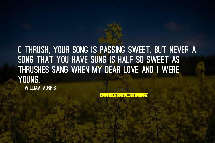 You're As Sweet As Quotes By William Morris: O thrush, your song is passing sweet, But