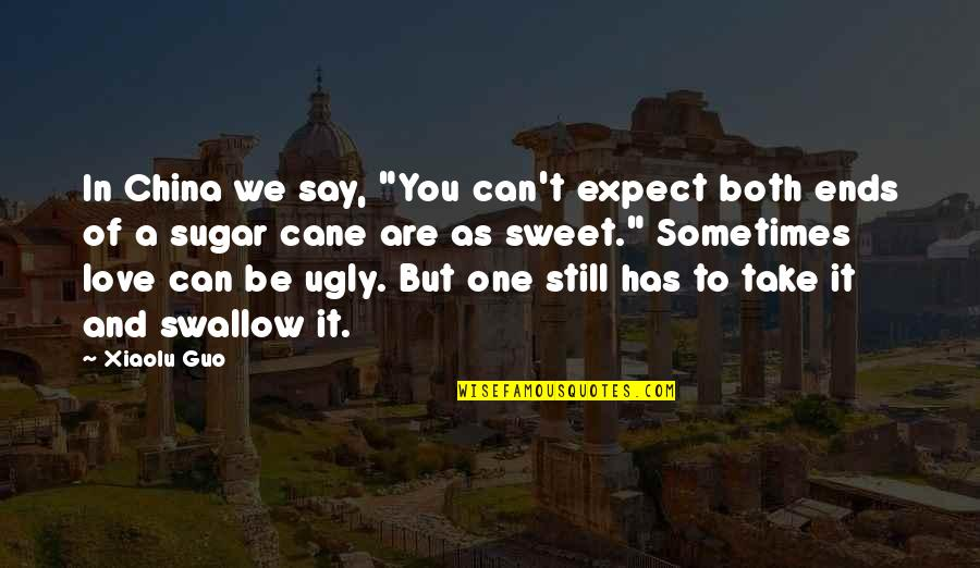 """You're As Sweet As Quotes By Xiaolu Guo: In China we say, """"You can't expect both"""