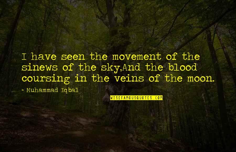 You're In My Veins Quotes By Muhammad Iqbal: I have seen the movement of the sinews