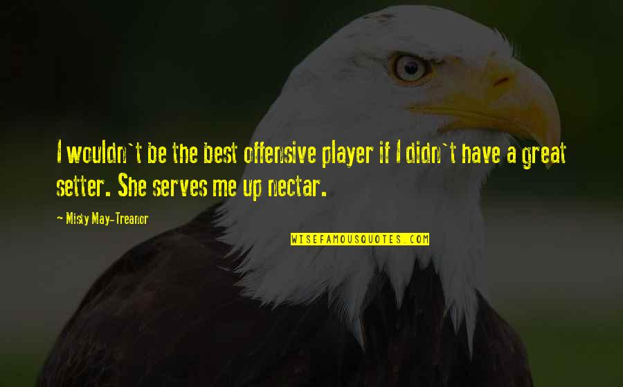 You're Just A Player Quotes By Misty May-Treanor: I wouldn't be the best offensive player if