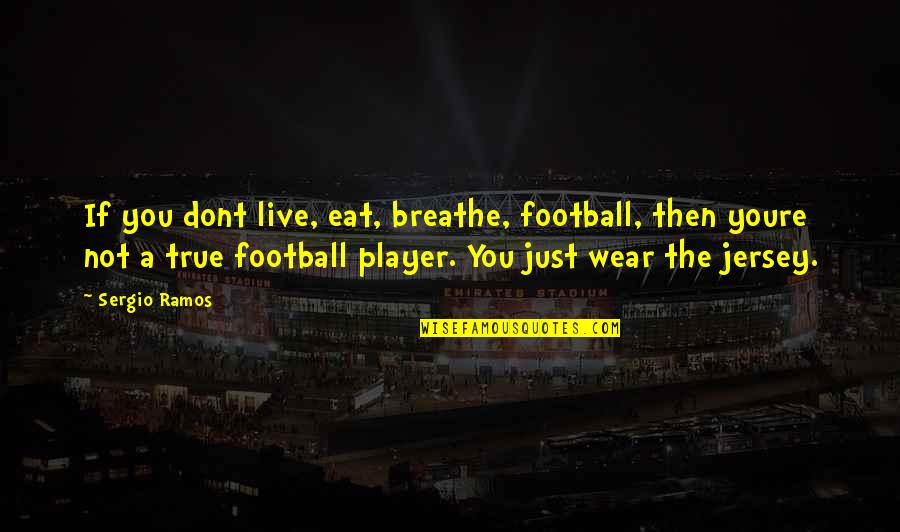 You're Just A Player Quotes By Sergio Ramos: If you dont live, eat, breathe, football, then