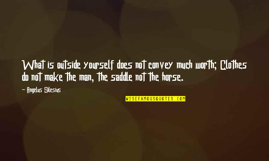 You're Just Not Worth It Quotes By Angelus Silesius: What is outside yourself does not convey much