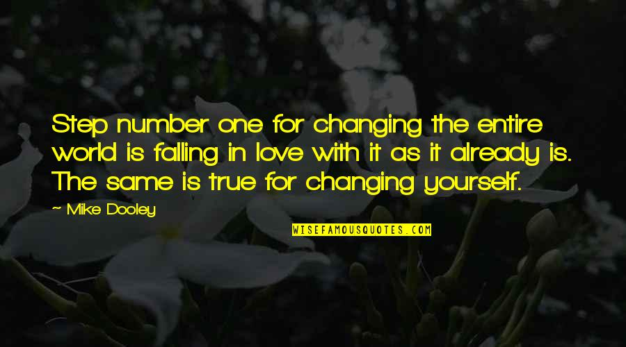 You're My Number One Love Quotes By Mike Dooley: Step number one for changing the entire world