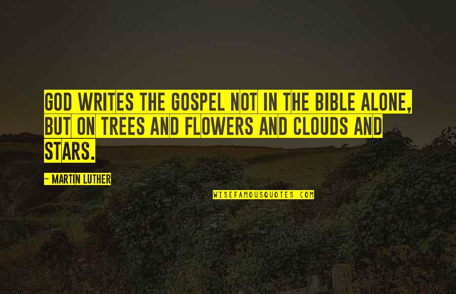 You're Not Alone Bible Quotes By Martin Luther: God writes the gospel not in the Bible