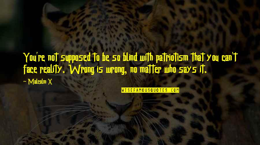 You're So Wrong Quotes By Malcolm X: You're not supposed to be so blind with