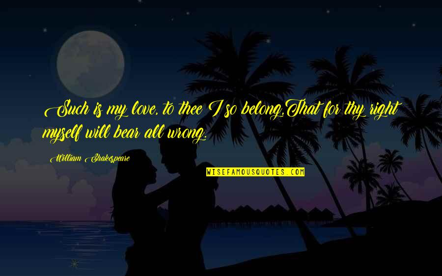 You're So Wrong Quotes By William Shakespeare: Such is my love, to thee I so