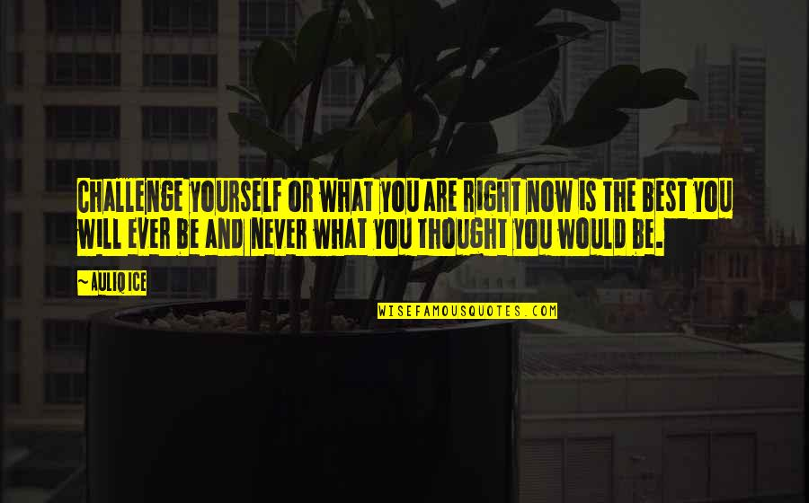 Yourself And Change Quotes By Auliq Ice: Challenge yourself or what you are right now