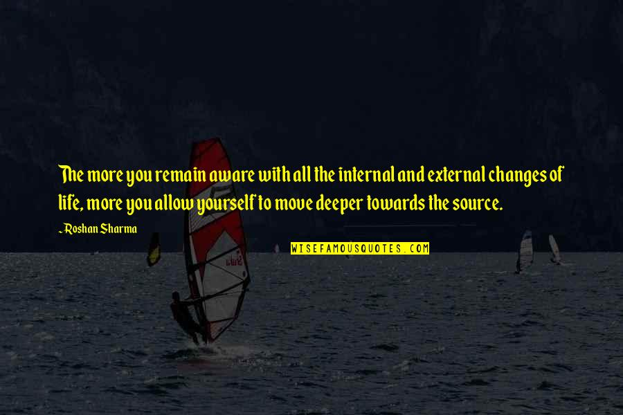 Yourself And Change Quotes By Roshan Sharma: The more you remain aware with all the