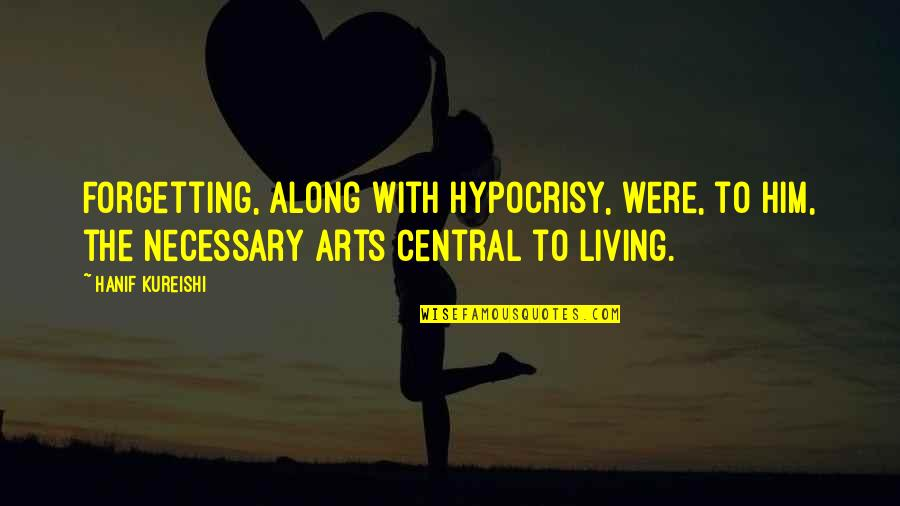 Youth Motivational Quotes By Hanif Kureishi: Forgetting, along with hypocrisy, were, to him, the