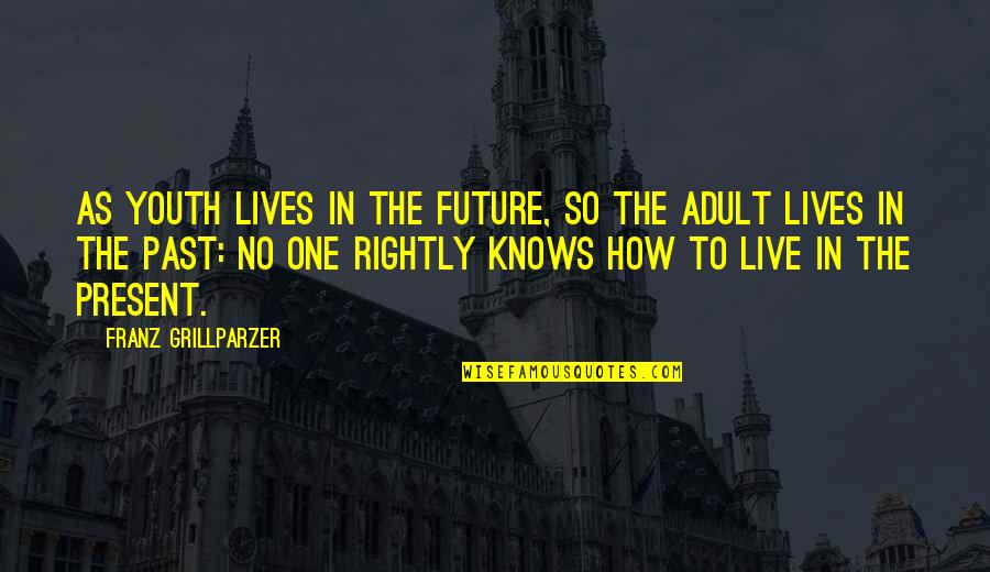 Youth Our Future Quotes By Franz Grillparzer: As youth lives in the future, so the