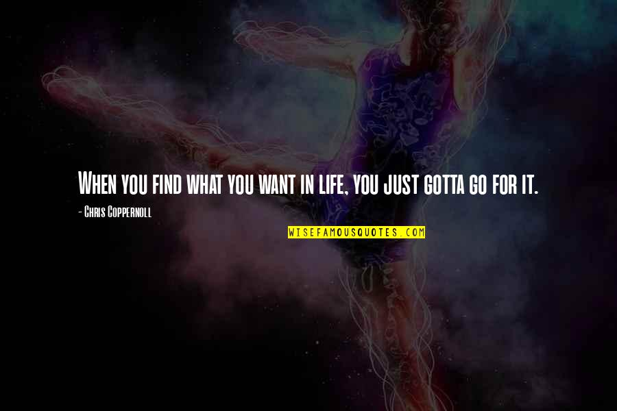 You've Gotta Want It Quotes By Chris Coppernoll: When you find what you want in life,