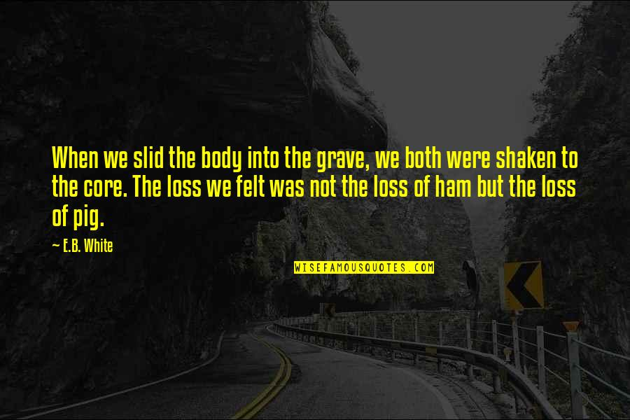 Ysandre Quotes By E.B. White: When we slid the body into the grave,