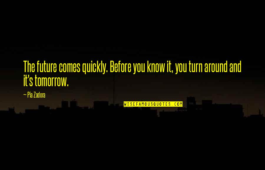 Zadora Quotes By Pia Zadora: The future comes quickly. Before you know it,