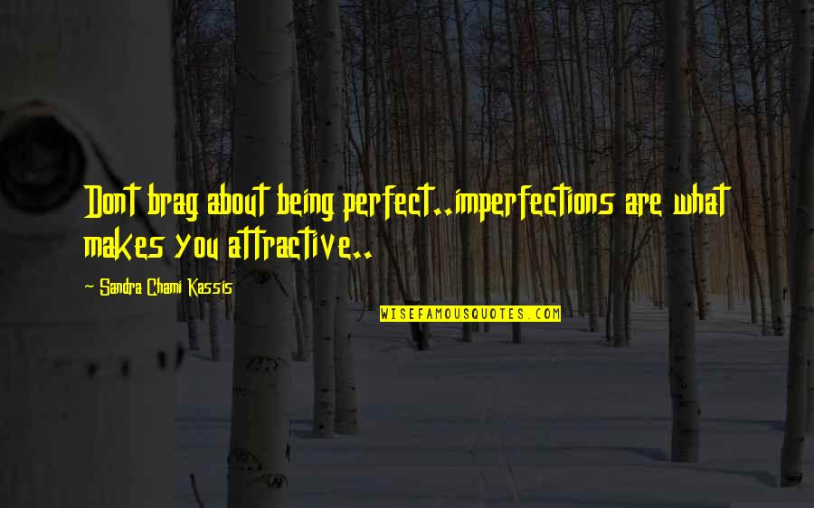 Zardo Quotes By Sandra Chami Kassis: Dont brag about being perfect..imperfections are what makes