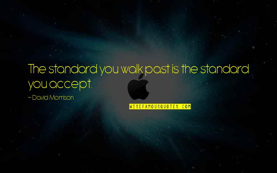 Zark Quotes By David Morrison: The standard you walk past is the standard