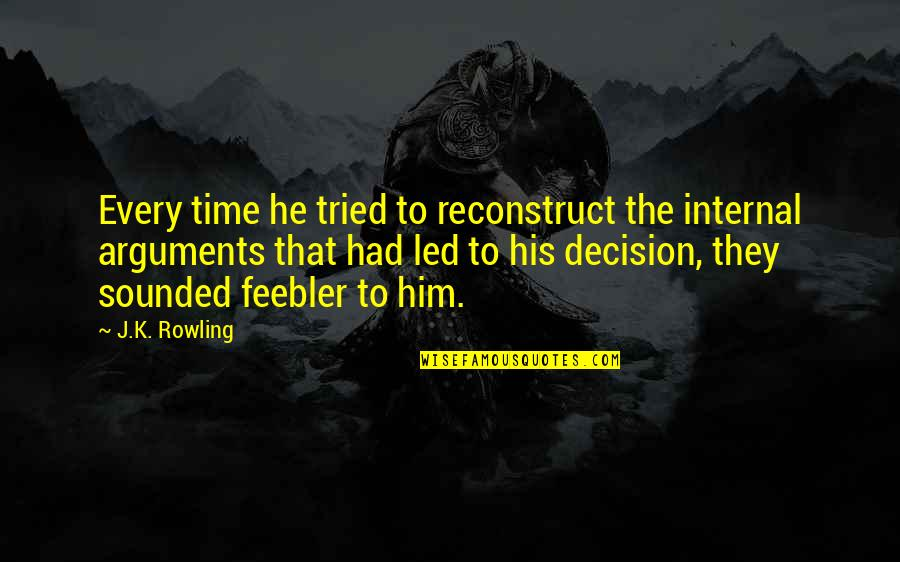 Zathura Quotes By J.K. Rowling: Every time he tried to reconstruct the internal